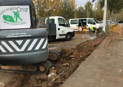 Urbanización, pavimentación y drenaje del parking – Girona