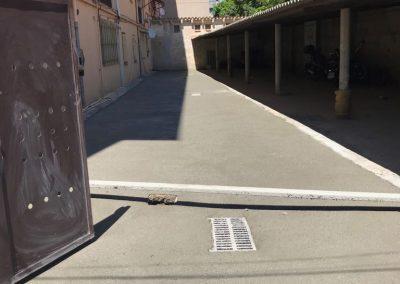 Obras de pavimentación en Fontajau